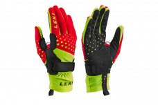 Перчатки Leki Nordic Race Shark red-yellow-black