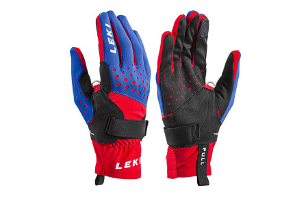 Перчатки Leki Nordic Race Shark royal-red-black