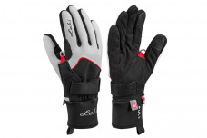 Перчатки Leki Thermo Shark Lady white-black-red