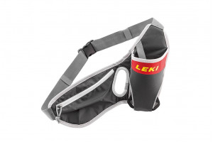 Сумка поясная Leki Drinkbelt Anthracite/Red